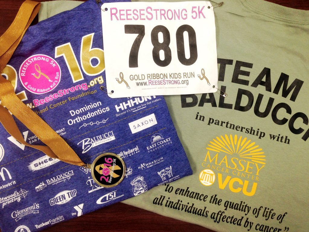 Balducci was a proud sponsor of ReeseStrong 5k