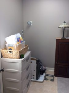 Before photo of the mud room