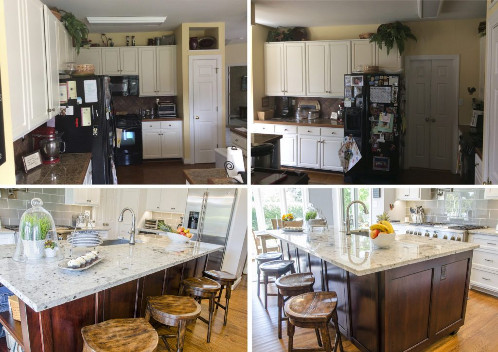 Before and After of the Kitchen Space