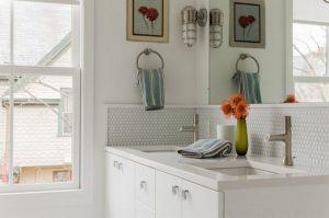 penny tile bathroom tiles
