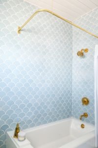 fish scale tile bathroom tile trend