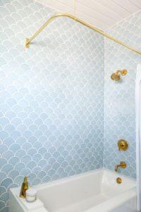 fish scale tile bathroom tile trend