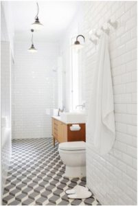 geometric tile bathroom tile