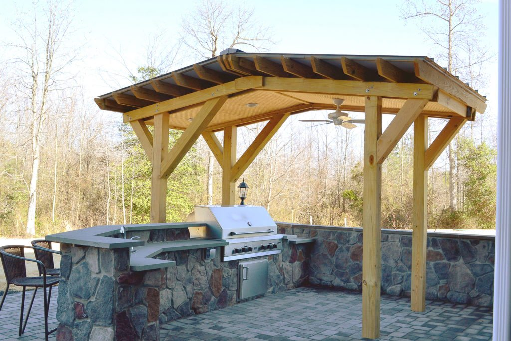 concrete countertops for indoor or outdoor kitchens