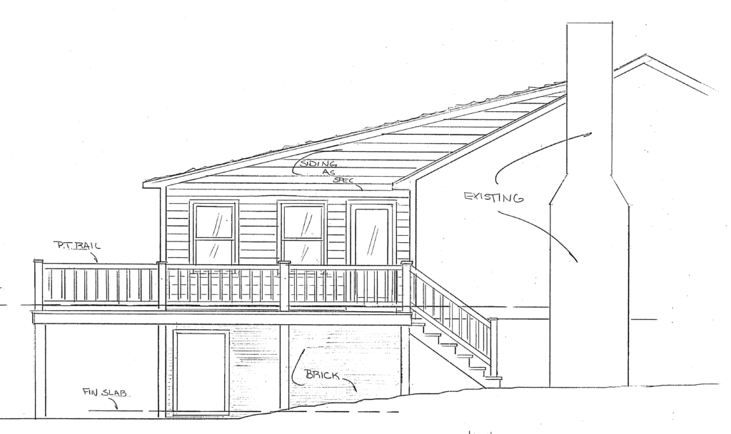 elevation drawing of the home addition