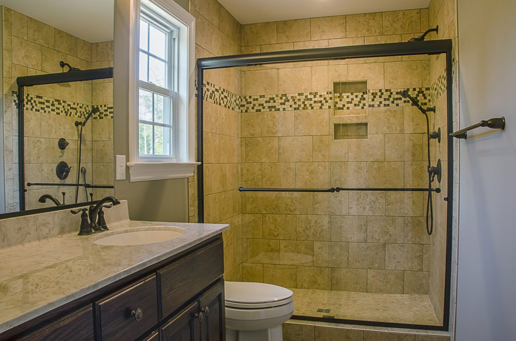 beige shower spa bathroom