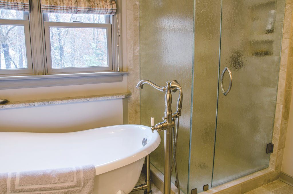 relaxing bathroom remodel with a slipper tub