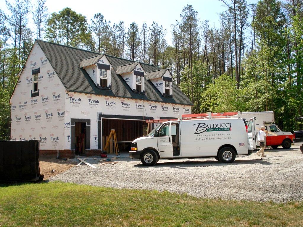 detached garage addition by Balducci Builders