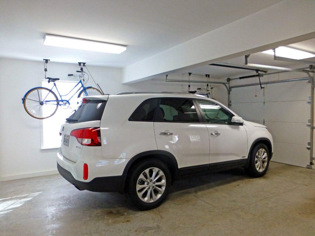 interior of a garage addition